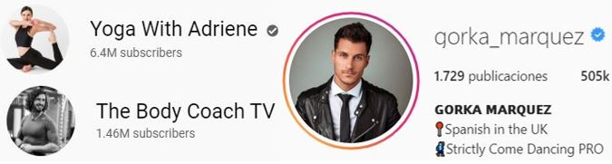 1. Yoga With Adriene 2. The Body Coach TV for morning fitness classes 3. Gorka Marquez for dance lessons